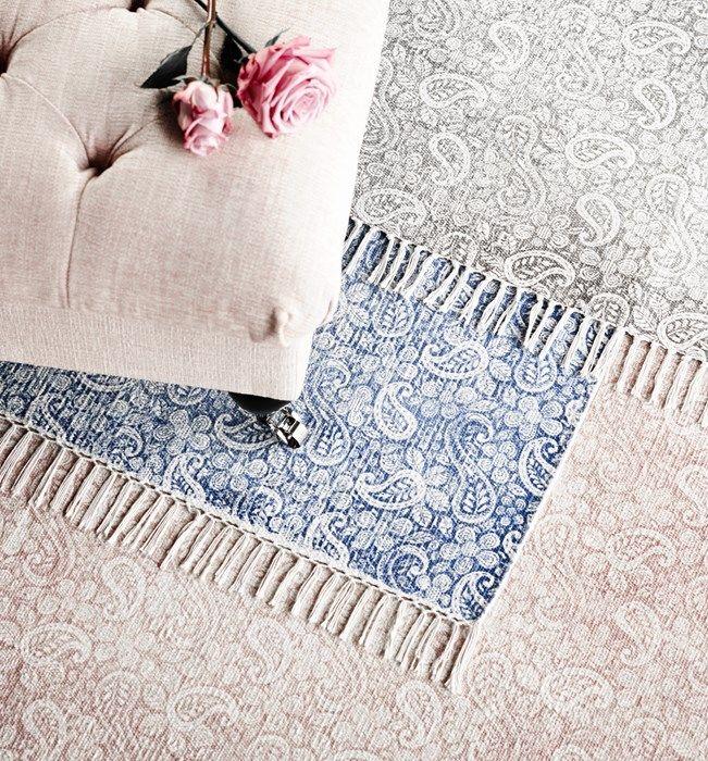 Wendy handvävd matta i 100% bomull från Mio.