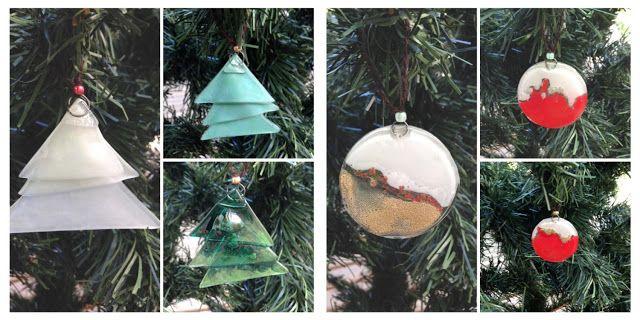 Adornos navideños en vitrofusion  - Christmas ornaments in fused glass