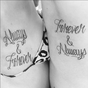 Always and Forever Couples Quotes Tattoos