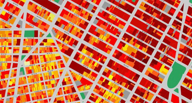city planning maps - energy consumption NYC