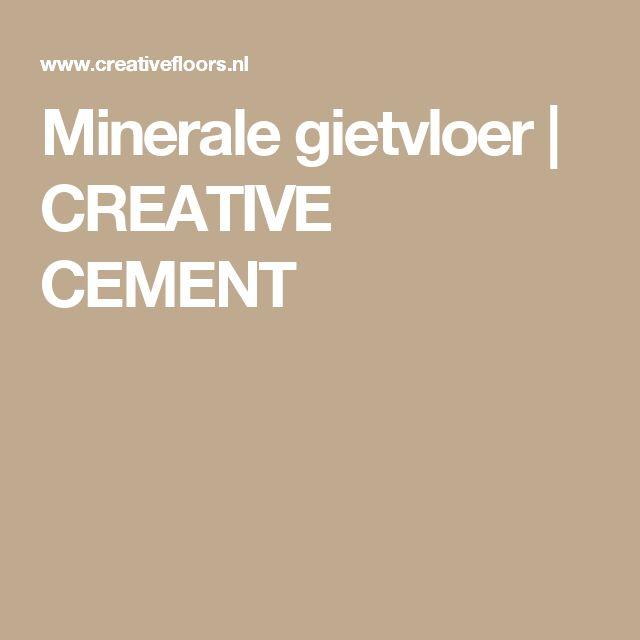 Minerale gietvloer   CREATIVE CEMENT