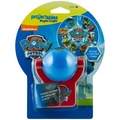 Projectables Led Plug-In Paw Patrol Night Light, Clear