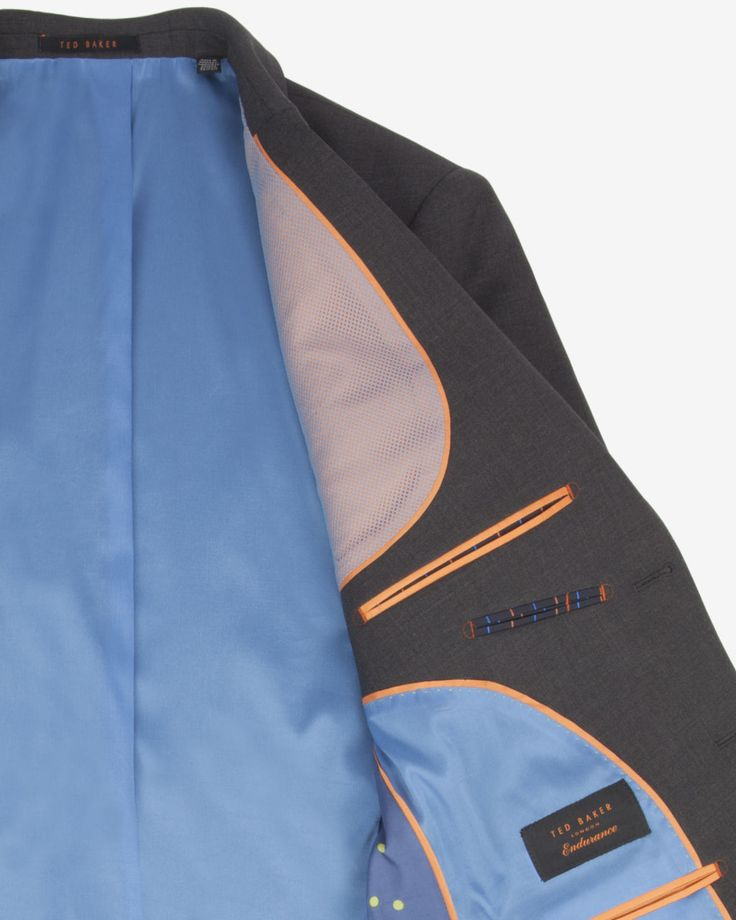 The Commuter cycling suit jacket - Charcoal | Suits | Ted Baker ROW