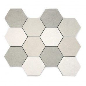 Belgium Stone Hexagon Mosaic Light Mix