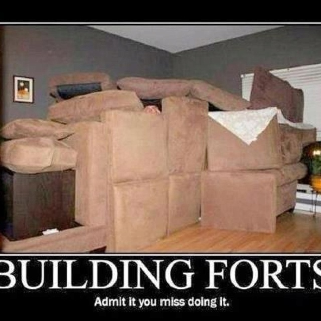Building A Fort I Made So Many Fun Forts With Couch Cushions