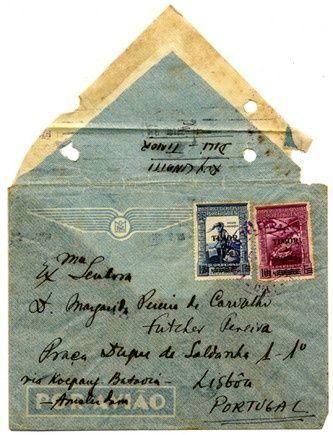 Vintage letter to Lisbon