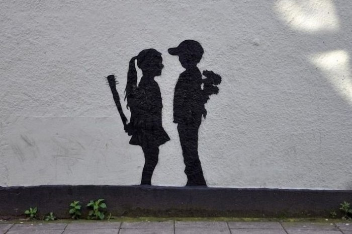 This would be so cute against the side of a house ♥