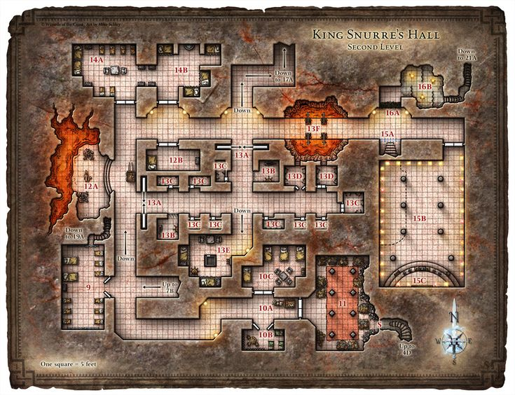Dungeon #200 - Hall of the Fire Giant King; Map 2 (Digital DM & Player Versions)