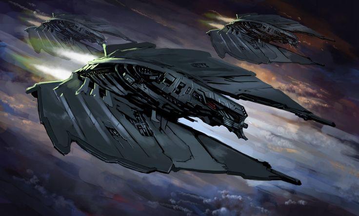 BURNING SUNS - Cyborg Fighter Squadron by Redan23 on deviantART