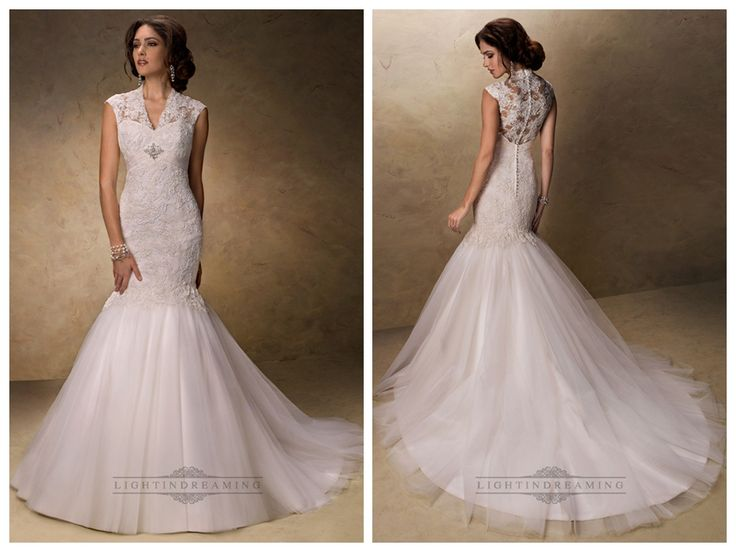 Fit and Flare V-neck Lace Wedding Dresses with Illusion Sleeves http://www.ckdress.com/fit-and-flare-vneck-lace-wedding-dresses-with-  illusion-sleeves-p-166.html #wedding #dresses #dress #lightindream #lightindreaming #wed #clothing   #gown #weddingdresses #dressesonline #dressonline #bride