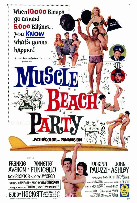 Muscle Beach Party 27x40 Movie Poster (1964)