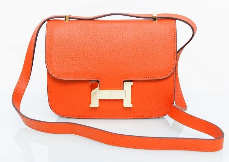 Сумка Hermes Constance оранжевая !! Распродажа модели !! Модель со скидкой !!