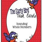 This set contains 24 task cards designed to practice rounding whole numbers to the place value of the underlined digit.