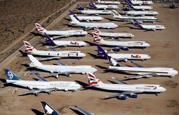 Aviões pertenceram a companhias aéreas comerciais como Air New Zealand e British Airways (Foto: Lucy Nicholson/Reuters)