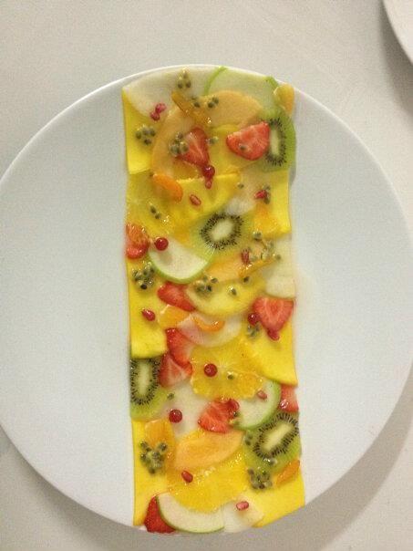 Art de la table - Salade de fruits façon carpaccio by Jean Imbert à Top Chef 2012