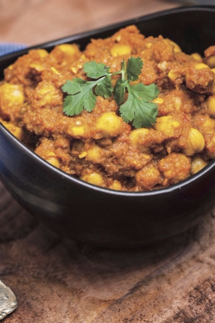 Chana Chickpea Marsala - Marsala Ingredients: 1 cup tomato sauce 2 cups cooked short-grain brown rice 1 tsp minced garlic 1/2 tsp sea salt 1 Tbsp ground cumin 1/4 tsp garam marsala  1 tsp ground coriander  1 tsp smoked paprika 1/4 tsp ground turmeric 1 tsp ground ginger 1/8 tsp cayenne pepper (optional) 2 15-ounce cans of chickpeas, drained and rinsed (about 3 cups) 1 lime, quartered, for garnish Fresh parsley flakes or cilantro, for garnish