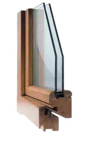 Swing window / wooden / double-glazed 68L COMECA GROUP