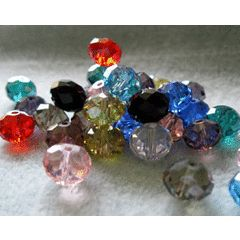 10 MM RANDOM MIXED CRYSTAL GLASS FACETED BEADS for R1.00