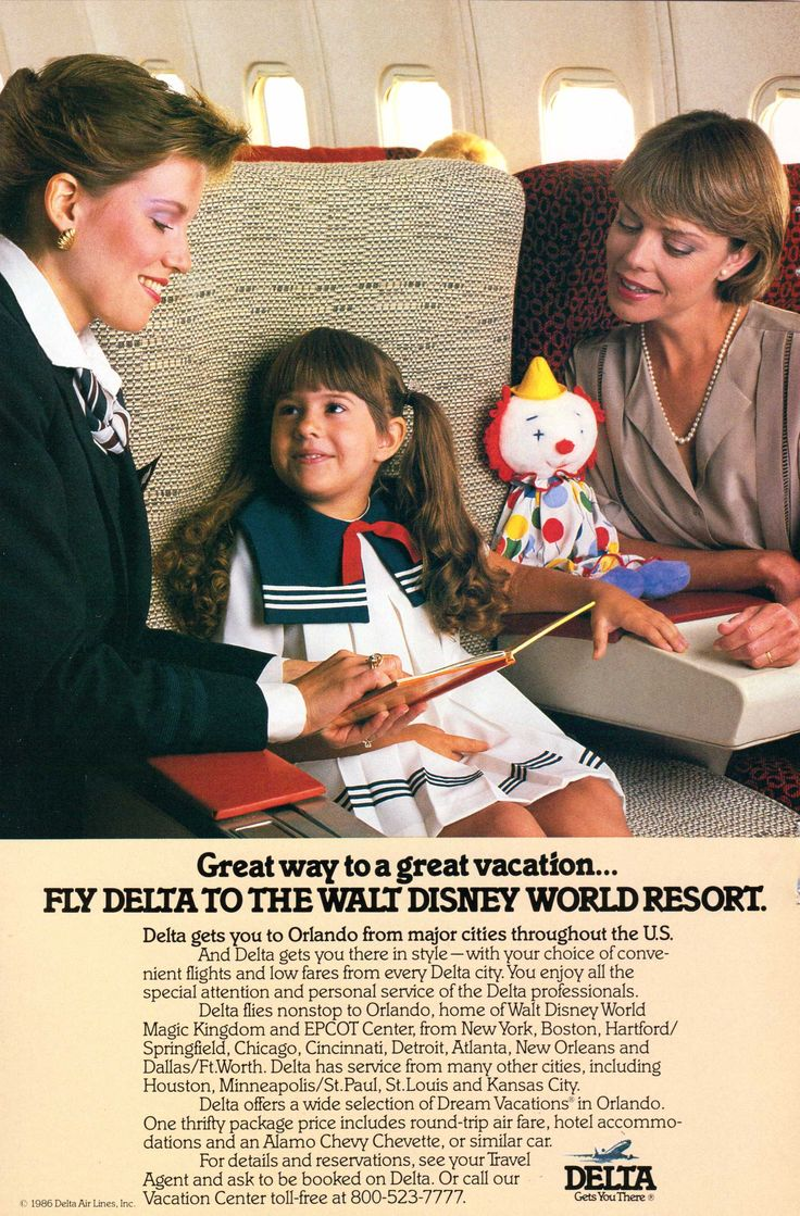 1986 Delta Airlines ad from - National Geographic, November 1986