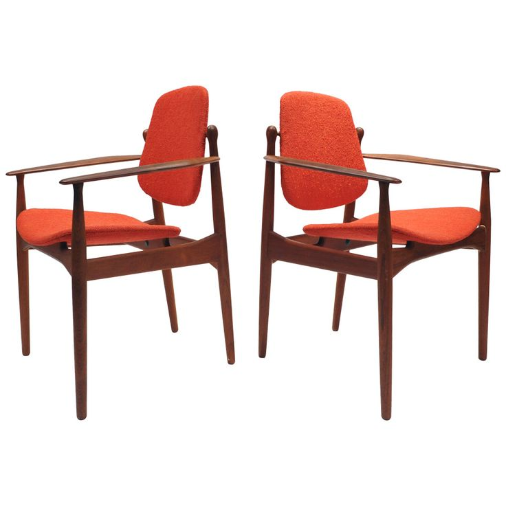 pair of arne vodder arm chairs