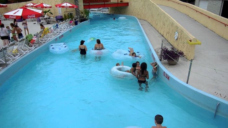Lazy River Pool With Floating Inner Tubes ~ Jungle Rapids Water Park NC
