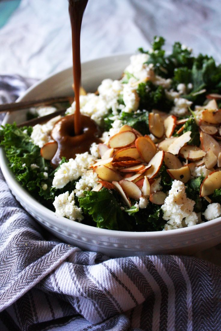 Warm Brown Rice and Kale Salad with Goat Cheese and
