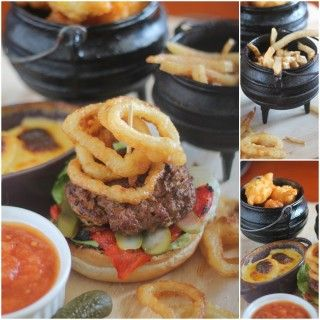 Barry Gerber creates a burger with an African twist! Chakalaka burger served with sweetcorn puffs, onion rings, a potato and cheddar bake as well as everyone's favourite thin cut chips. #picknpay #freshlyblogged #recipe