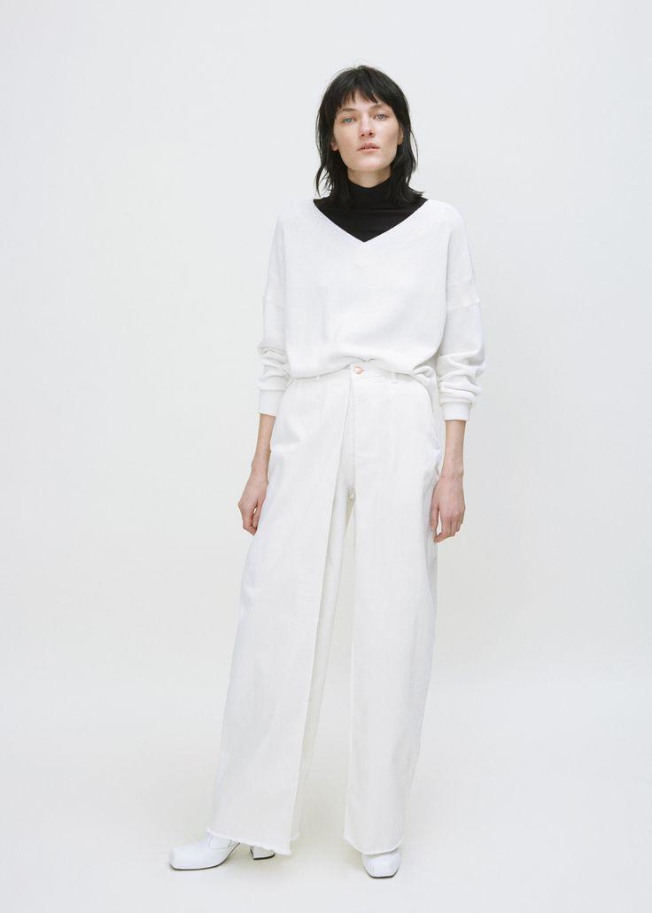 AALTO Front Pleats Jean (White)
