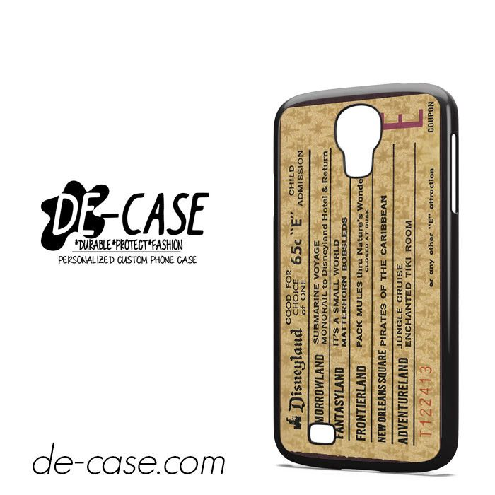 Classic Disneyland Ticket DEAL-2698 Samsung Phonecase Cover For Samsung Galaxy S4 / S4 Mini