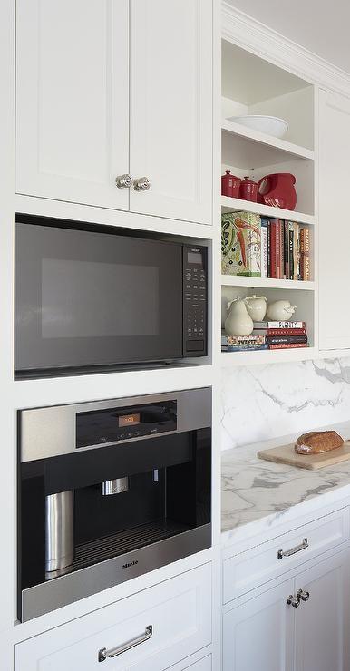 Built In Espresso Machine, Transitional, kitchen, Lauren Ranes
