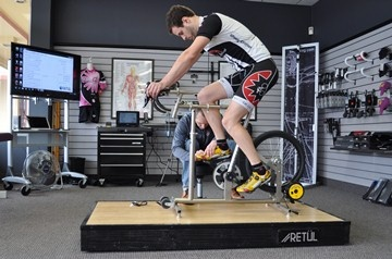 Retul Dynamic Bike Fit: With Retul's 3-dimensional motion capture technology, we can dial in your bike fit to sub-millimeter tolerances. Retul Bike Fits are performed at the Brookfield Bike Fit Studio by certified fitter John Huenink. Contact John by calling (262) 391-7877 or email john.huenink@wheelandsprocket.net.