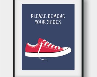 50% OFF Please Remove Your Shoes Sign Shoes Off by AenaonArtWork