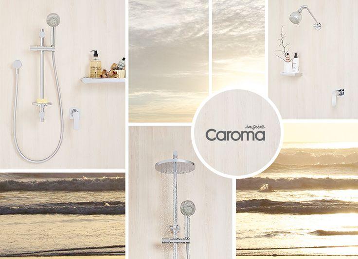 The Caroma Urbane Shower Range #caroma #shower #bathroominspo #moodboard #coastalvibes #interiordesign #bathroom #design #styling  http://www.caroma.com.au/bathrooms/showers/urbane