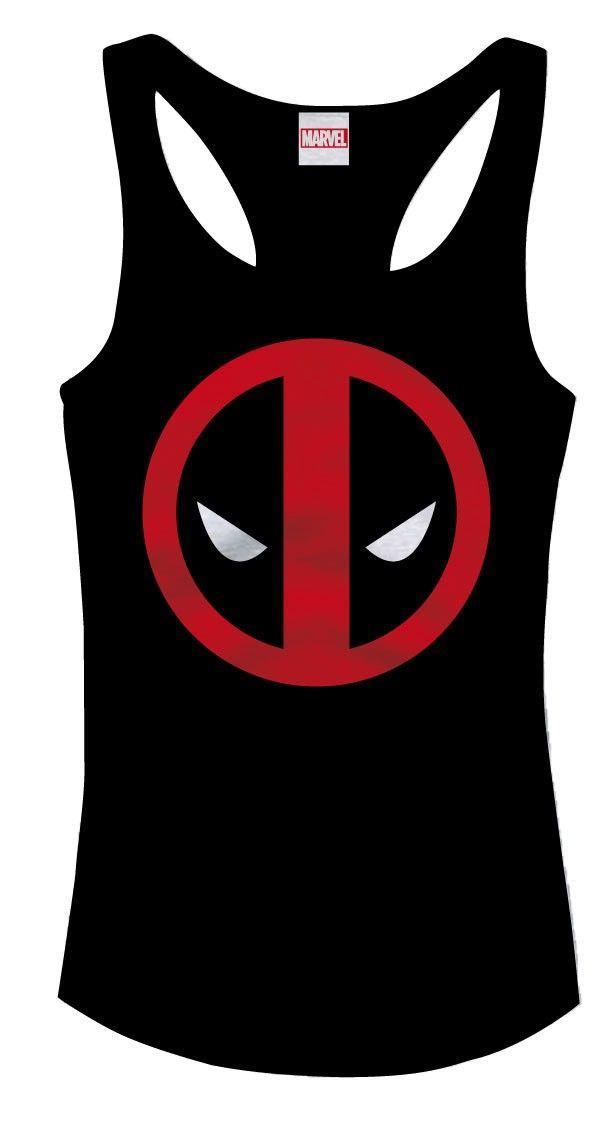 Marvel Comics Girlie Tank Top Deadpool Logo