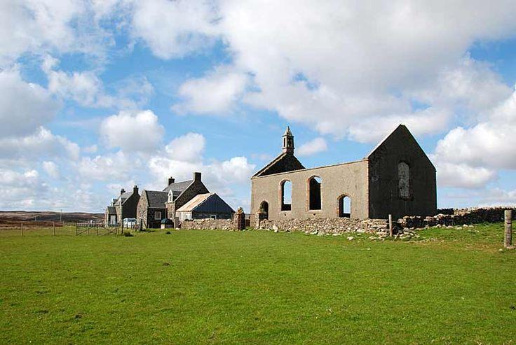 Remains of the OA Church at Risabus  At Risabus, in the heart of the Oa, are the remains of the former Oa Church, built by Thomas Telford in 1828.