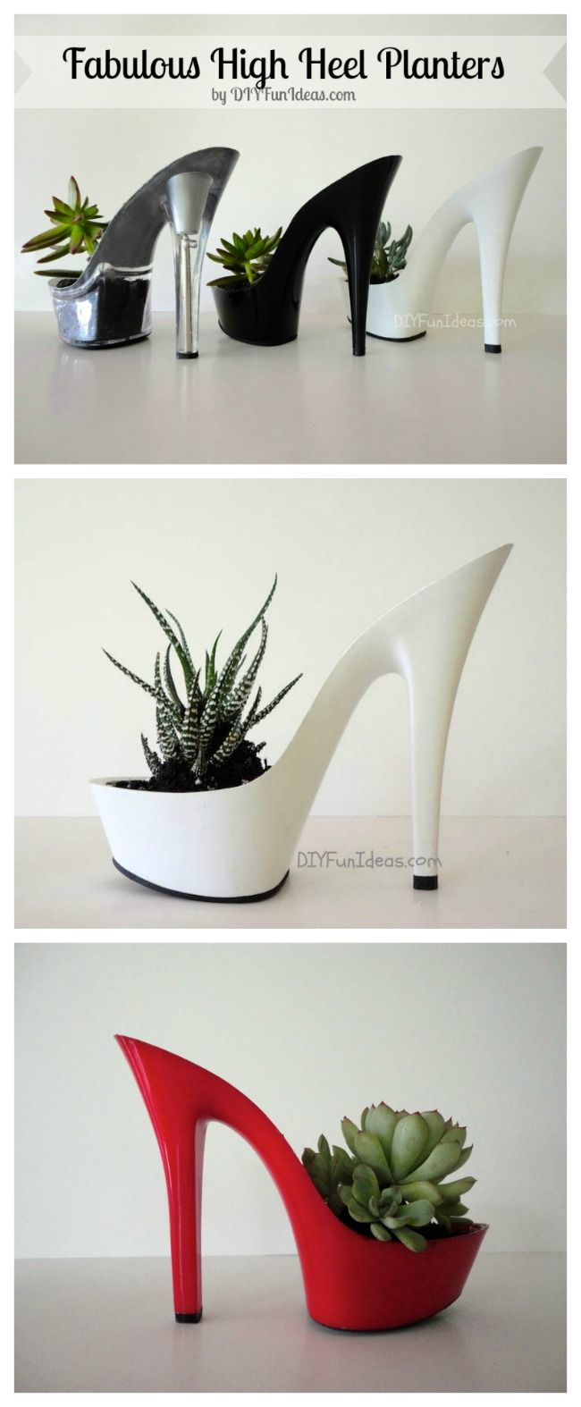 #DIY shoe planters, would also make a cool gift