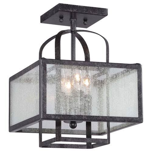 Camden Square Aged Charcoal Four-Light Semi-Flush Mount