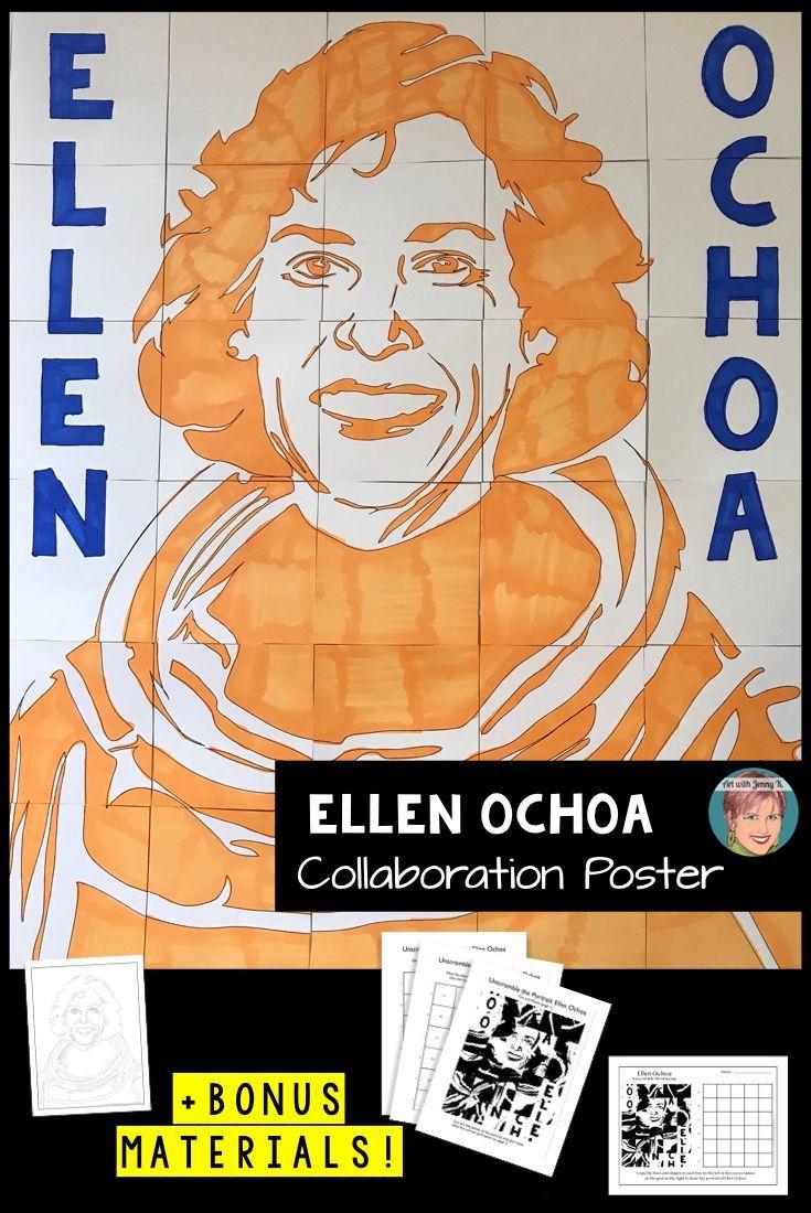 Nasa Astronaut Ellen Ochoa Collaboration Poster Hispanic