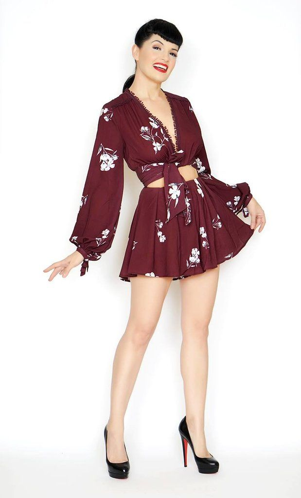Rita Romper in Wine and Roses #1950s-pin-up #bernie-dexter #inspired-dress #online-vintage #pin-up-dress #pin-up-dresses #pinup #pinup-dress #rockabilly #rockabilly-pin-up #vintage-clothing #vintage-dress #vintage-inspired-clothing #wholesale