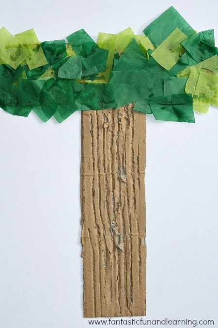 Jesse Tree craft--make the trunk into a stump, and the green on a branch.