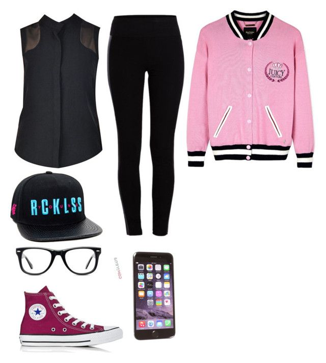 GIG by dj-eyecandy on Polyvore featuring nooy by yoon, Juicy Couture, Pieces, Converse and Muse