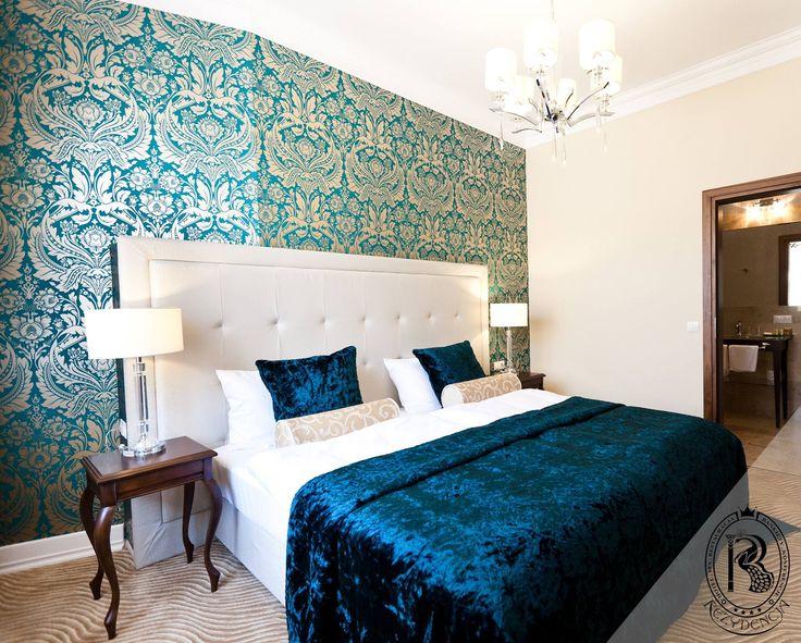Pokój turkusowy / Turquoise Room. #RezydencjaHotel #Design #Turkus #Turquoise