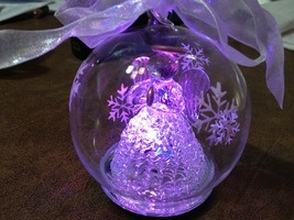 Illuminating Color Hand Blown Glass Ornament with Gift Box - Praying Angel  $24.00
