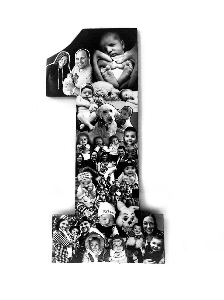 Newborn Baby Photo Collage, 1st Birthday Photo Collage, Number One for Baby's Birthday, 1st Birthday, One Year Photos, New Baby Photomontage by picketfencecrafts on Etsy https://www.etsy.com/listing/231095007/newborn-baby-photo-collage-1st-birthday