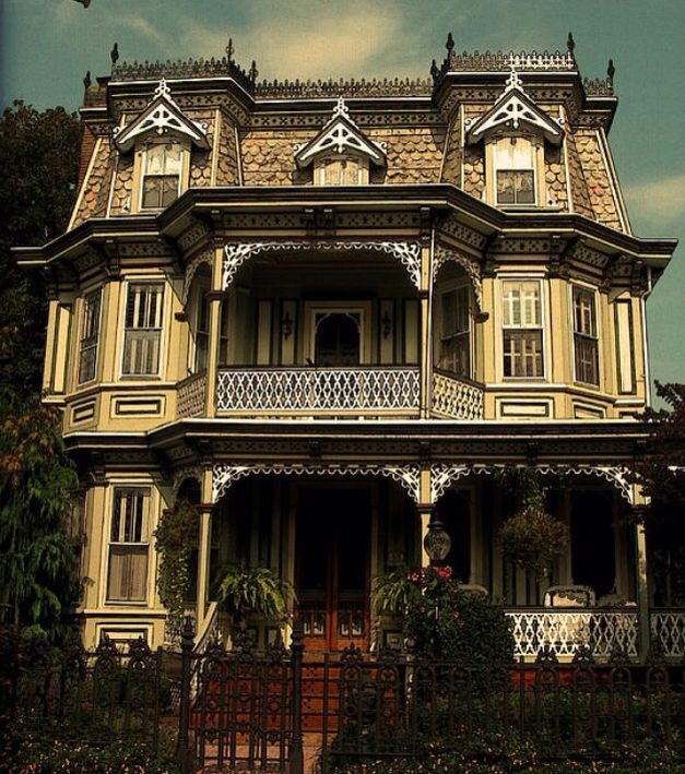 Second Empire Victorian With A Mansard Roof Victorian