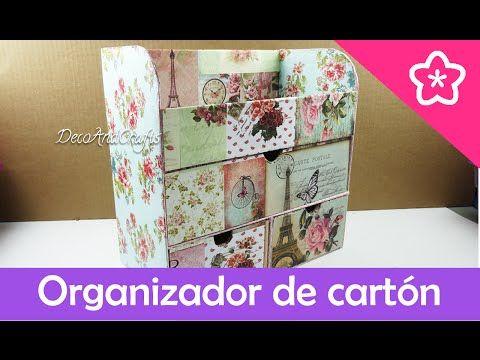 DecoAndCrafts: Organizador de cartón para productos de tocador
