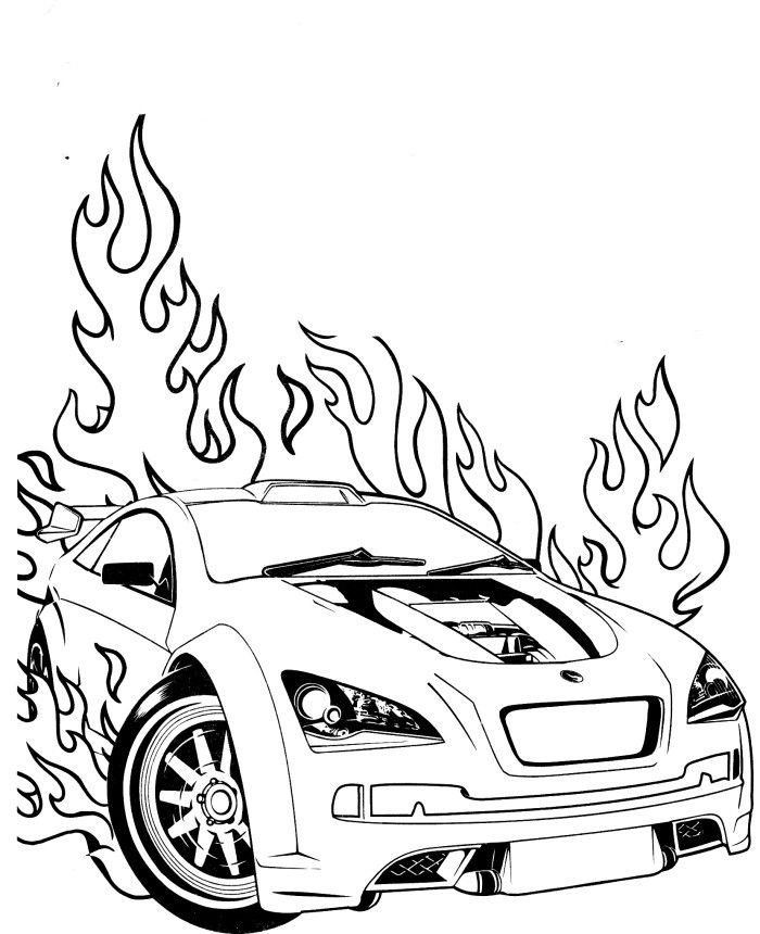 Race Car Coloring Pages Free Image Source