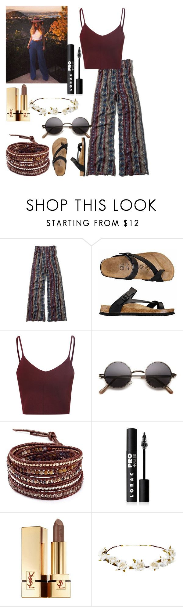"""""""Vacation with Perrie"""" by kennedey-lynn-freeman ❤ liked on Polyvore featuring Abercrombie & Fitch, Glamorous, Chan Luu, LORAC, Yves Saint Laurent and Cult Gaia"""
