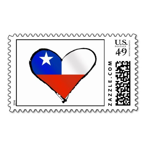 Te Amo Chile Chilean love and pride Postage Stamps. It is really great to make each letter a special delivery! Add a unique touch to invites or cards with your own photos or text. Just click the image to learn more!