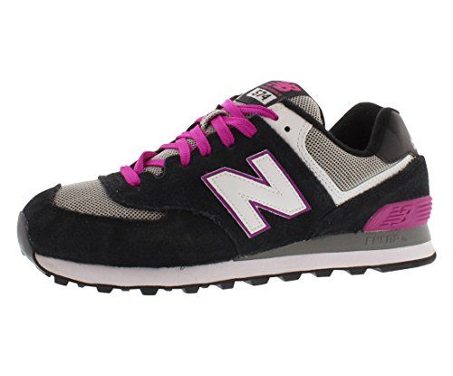 New Balance Womens WL574 Core Running ShoeBlackPink55 B US >>> You can get additional details at the image link.